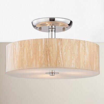 Jose 3-Light Semi Flush Mount Bulb Type: 60W Incandescent