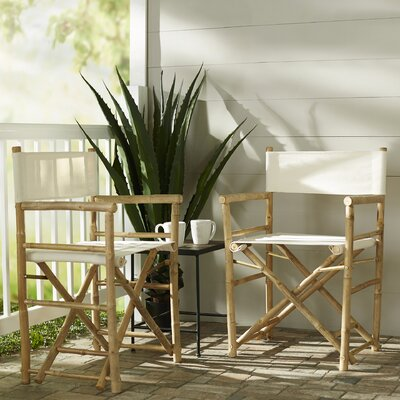 Porter Low Canvas/Bamboo Director Chair (Set of 2)