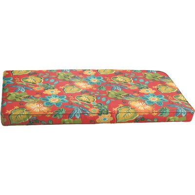 Hiawatha Beach Corded Floral Bench Cushion Size: 60 x 19