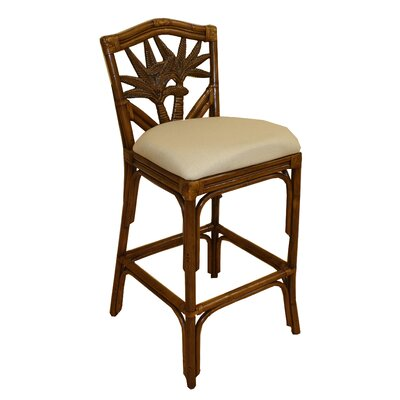 Cypress 30 Bar Stool Fabric: Ciboney Lacquer