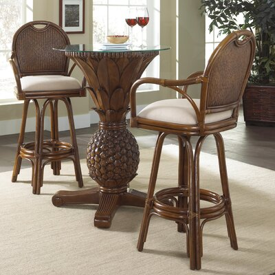 Bay Point 3 Piece Pub Table Set Color: Beige
