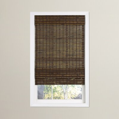 Bamboo Roman Shade Size: 64 L x 46 W, Color: Cocoa