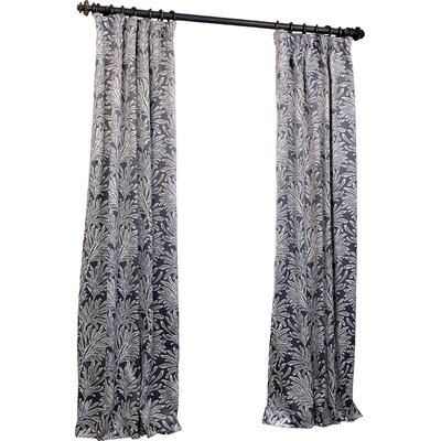 Lollie Floral Blackout Thermal Single Curtain Panel