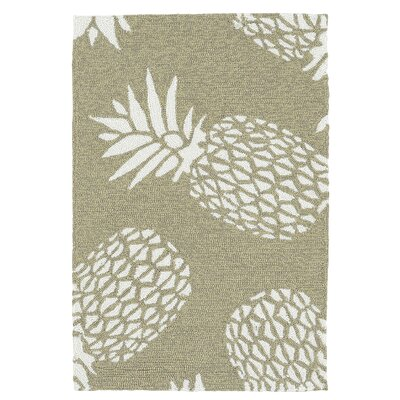 Brianna Handmade Light Brown Indoor / Outdoor Area Rug Rug Size: 2 x 3