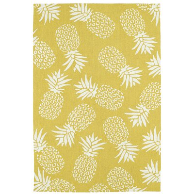 Brianna Handmade Gold Indoor/Outdoor Area Rug Rug Size: 3 x 5