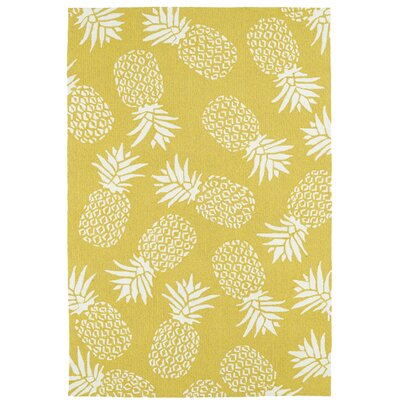 Brianna Handmade Gold Indoor/Outdoor Area Rug Rug Size: Rectangle 5 x 76