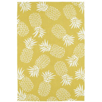 Brianna Handmade Gold Indoor/Outdoor Area Rug Rug Size: 9 x 12