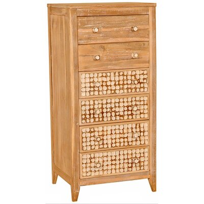 Sherlyn 6 Drawer Lingerie Chest in White Wash