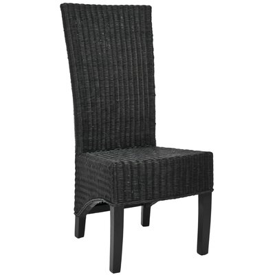 Prestwick Wicker Parson Chairs Finish: Black
