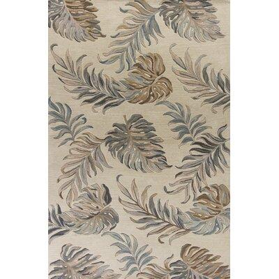 Antigua Hand-Tufted Ivory Area Rug Rug Size: 26 x 42