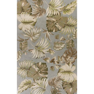 Antigua Hand-Tufted Slate/Green Area Rug Rug Size: 26 x 42