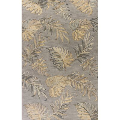Antigua Hand-Tufted Gray Area Rug Rug Size: 33 x 53