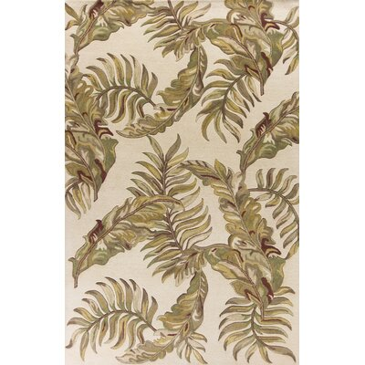 Antigua Hand-Tufted Ivory Area Rug Rug Size: 26 x 42
