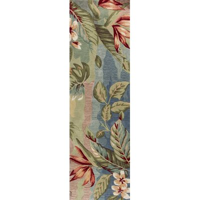 Cheyenne Hand-Tufted Blue/Sage Area Rug Rug Size: Runner 23 x 76