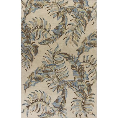Imala Hand-Tufted Pale Gray Area Rug Rug Size: 33 x 53