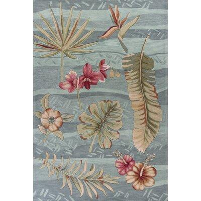 Agios Hand-Tufted Seafoam Blue/Pink Area Rug Rug Size: 5 x 76