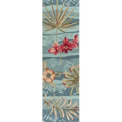 Cheyenne Hand-Tufted Seafoam Blue/Pink Area Rug Rug Size: Runner 23 x 76