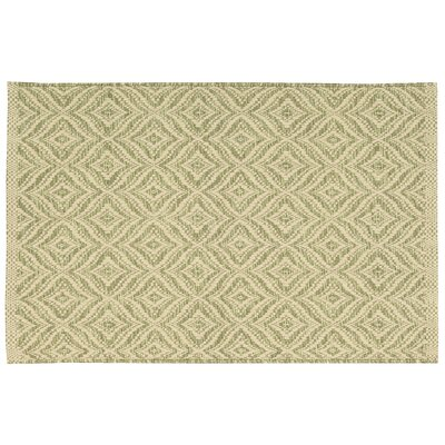 Antigua Light Green/Cream Area Rug Rug Size: 2'6 x 4'