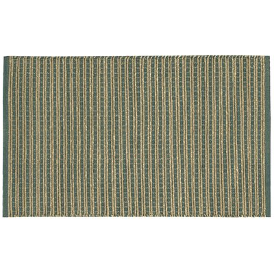 Caicos Teal/Brown Area Rug Rug Size: 2' x 3'