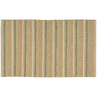 Caicos Green/Brown Area Rug Rug Size: 2' x 3'