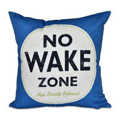 Nap Zone Outdoor Throw Pillow Color: Blue