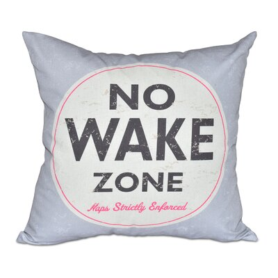 Nap Zone Outdoor Throw Pillow Color: Gray
