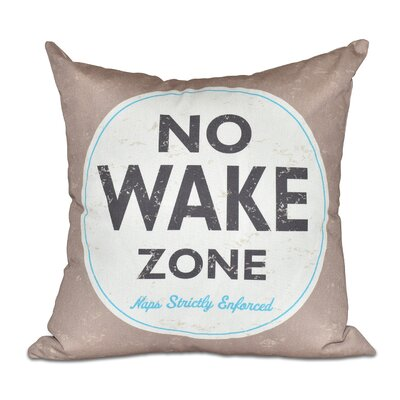 Nap Zone Outdoor Throw Pillow Color: Beige