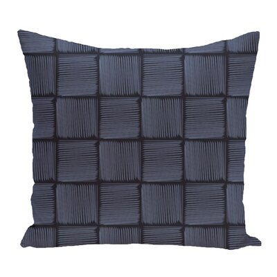 Brisa Basketweave Geometric Outdoor Throw Pillow Color: Blue