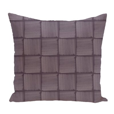 Brisa Basketweave Geometric Outdoor Throw Pillow Color: Purple
