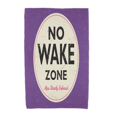 Golden Beach Nap Zone Beach Towel Color: Purple
