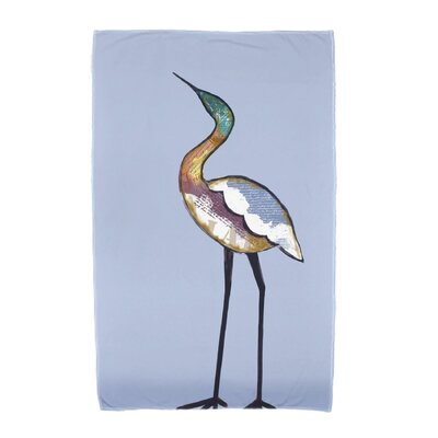 Bird Fashion Beach Towel Color: Blue