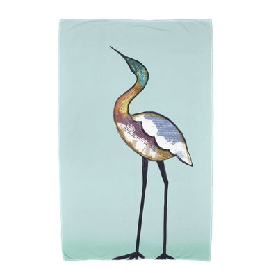 Bird Fashion Beach Towel Color: Aqua