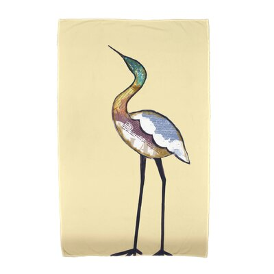 Bird Fashion Beach Towel Color: Yellow