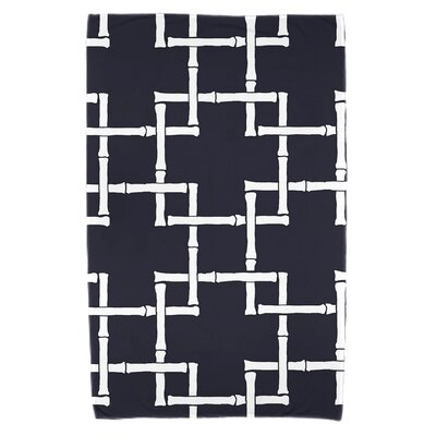 Bamboo Print 1 Beach Towel Color: Navy Blue