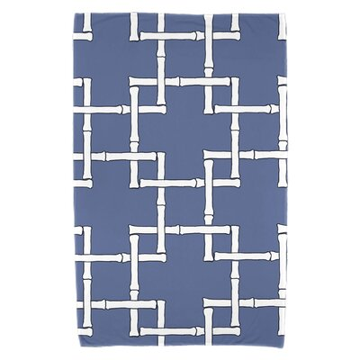 Bamboo Print 1 Beach Towel Color: Blue