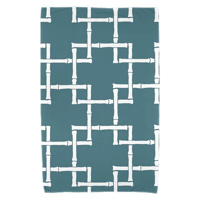 Bamboo Print 1 Beach Towel Color: Teal
