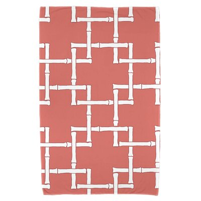 Bamboo Print 1 Beach Towel Color: Coral