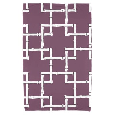 Bamboo Print 1 Beach Towel Color: Purple