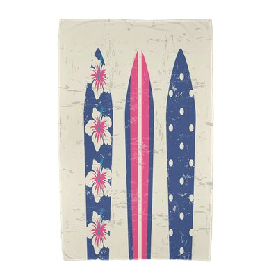 Triple Surf Geometric Print Beach Towel Color: Gray
