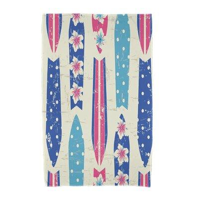 Dean Geometric Print Beach Towel Color: Blue