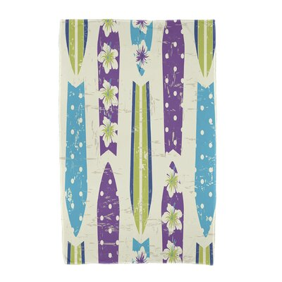 Dean Geometric Print Beach Towel Color: Purple