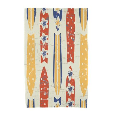 Dean Geometric Print Beach Towel Color: Yellow