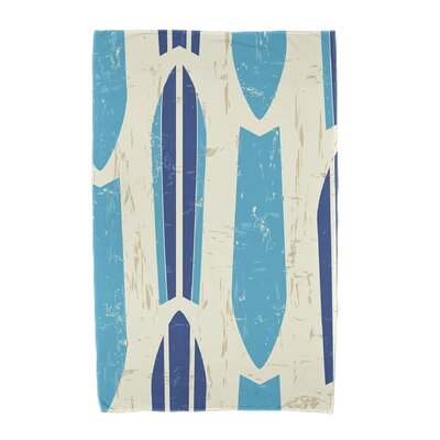 Dean Geometric Print Beach Towel Color: Turquoise