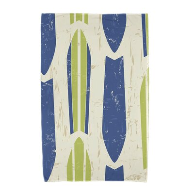 Dean Geometric Print Beach Towel Color: Light Green