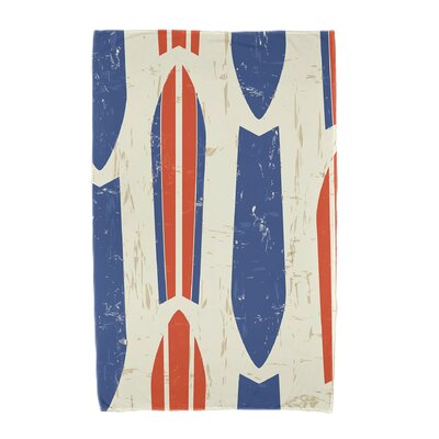 Dean Geometric Print Beach Towel Color: Orange