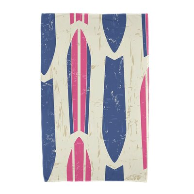 Dean Geometric Print Beach Towel Color: Pink