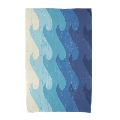 Deep Sea Geometric Print Beach Towel Color: Blue