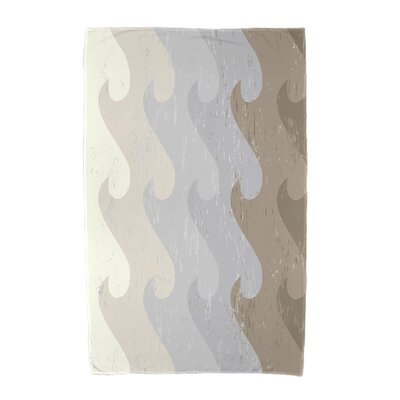 Deep Sea Geometric Print Beach Towel Color: Taupe/Gray