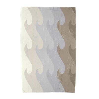 Deep Sea Geometric Print Beach Towel Color: Taupe/Gray