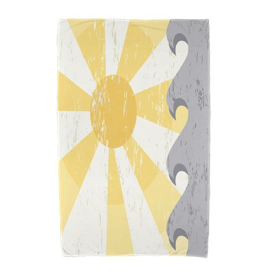 Sunbeams Geometric Print Beach Towel Color: Yellow